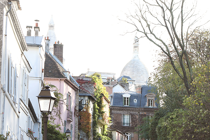 Butte montmartre with view on the Sacre Coeur