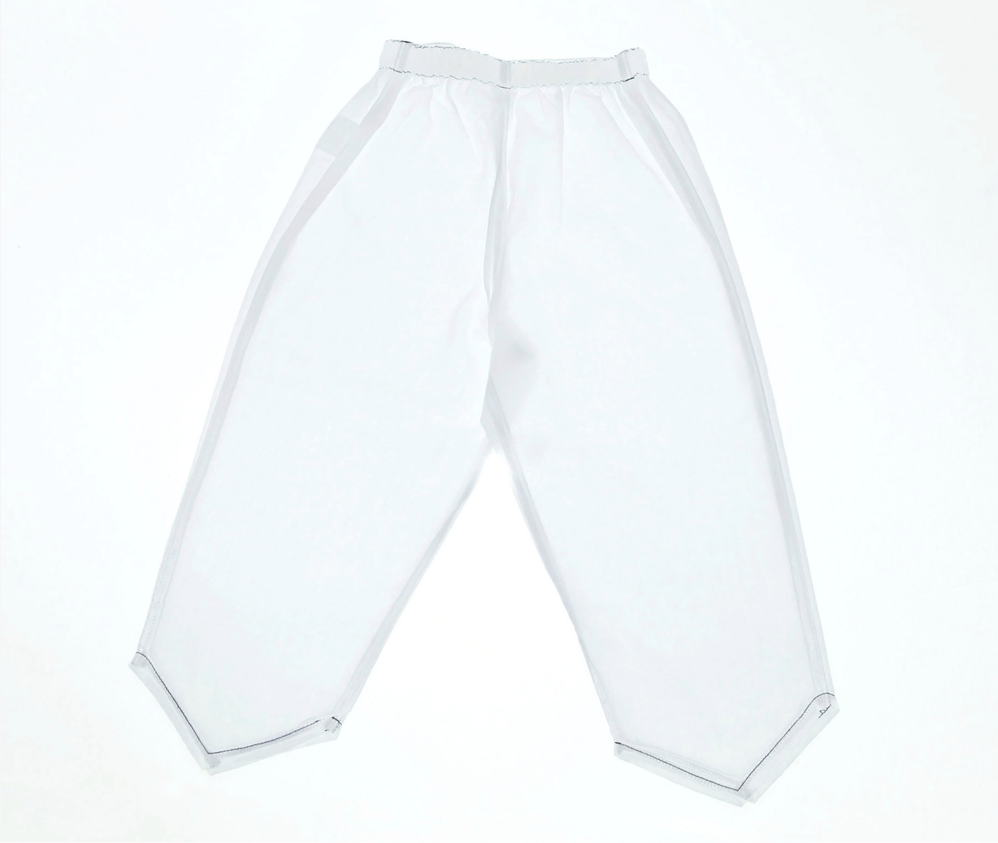 Transparent pair of trousers